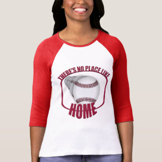 Baseball No Place Like Home Red Raglan T-Shirt