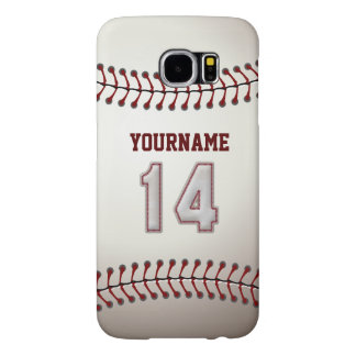 Baseball Number 14 Custom Name Stylish and Unique Samsung Galaxy S6 Case