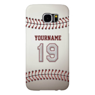 Baseball Number 19 Custom Name Stylish and Unique Samsung Galaxy S6 Case
