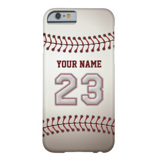Baseball Number 23 with Your Name - Modern Sporty Barely There iPhone 6 Case
