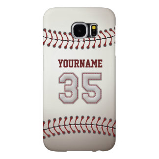 Baseball Number 35 Custom Name Stylish and Unique Samsung Galaxy S6 Case