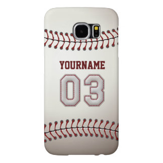 Baseball Number 3 Custom Name Stylish and Unique Samsung Galaxy S6 Case