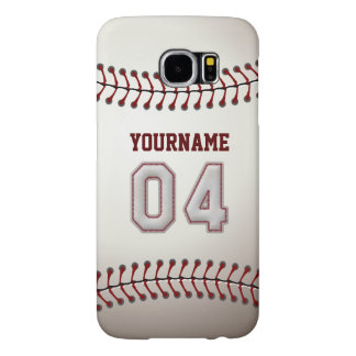 Baseball Number 4 Custom Name Stylish and Unique Samsung Galaxy S6 Case