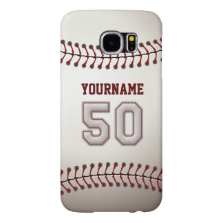 Baseball Number 50 Custom Name Stylish and Unique Samsung Galaxy S6 Case