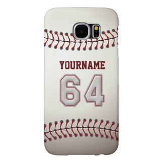 Baseball Number 64 Custom Name Stylish and Unique Samsung Galaxy S6 Case