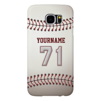 Baseball Number 71 Custom Name Stylish and Unique Samsung Galaxy S6 Case