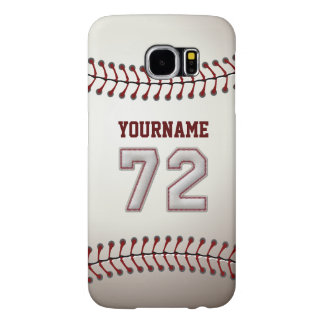 Baseball Number 72 Custom Name Stylish and Unique Samsung Galaxy S6 Case