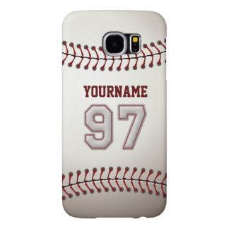 Baseball Number 97 Custom Name Stylish and Unique Samsung Galaxy S6 Case
