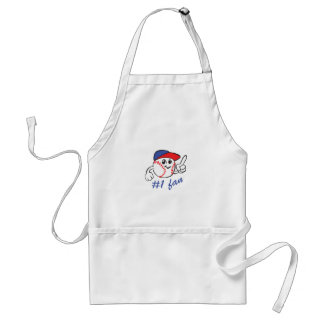 BASEBALL NUMBER ONE FAN ADULT APRON