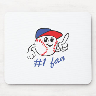 BASEBALL NUMBER ONE FAN MOUSE PAD