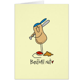 Baseball Nut T-shirts and Gifts Greeting Cards