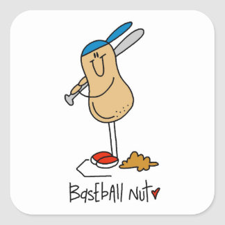 Baseball Nut T-shirts and Gifts Square Sticker