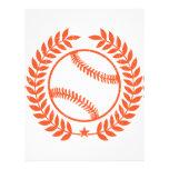 Baseball Olive Branch and Star Custom Letterhead
