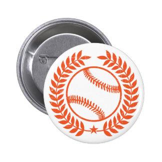 Baseball Olive Branch and Star Pin