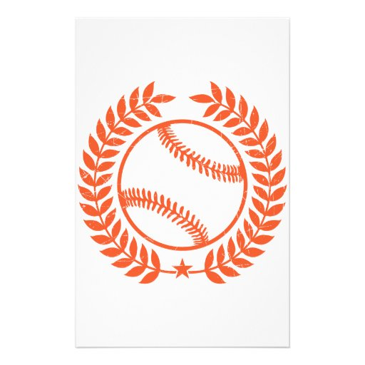 Baseball Olive Branch and Star Stationery Paper