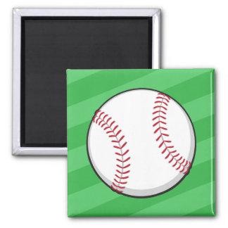 Baseball om green field party favor magnet