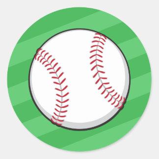 Baseball om green field stickers