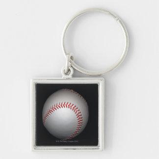 Baseball on black background, close-up keychain