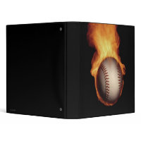 Baseball On Fire Avery Binder binder
