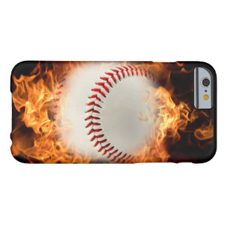 Baseball on fire barely there iPhone 6 case