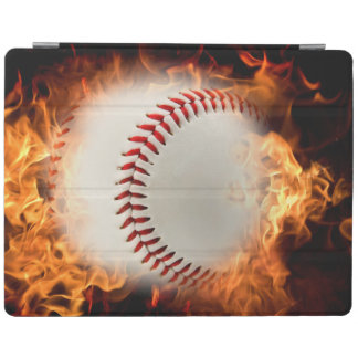 Baseball on fire iPad smart cover