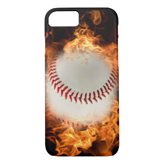 Baseball on fire iPhone 7 case