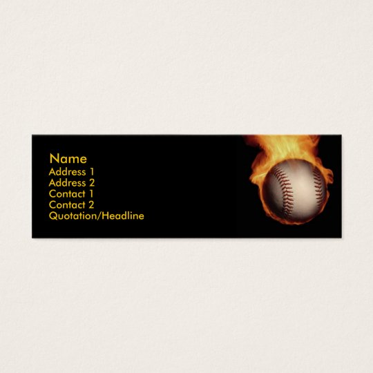 Baseball On Fire Profile Card