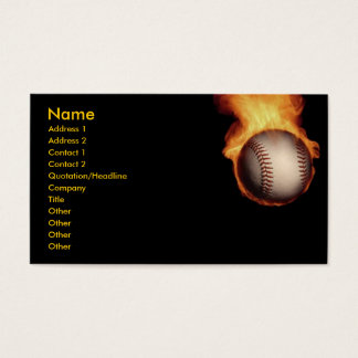 Baseball On Fire Profile Card