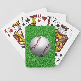 Baseball On Grass Playing Cards