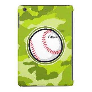 Baseball on Green Camo, Camouflage iPad Mini Retina Cover
