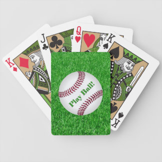 Baseball On Lawn - Play Ball! Bicycle Playing Cards