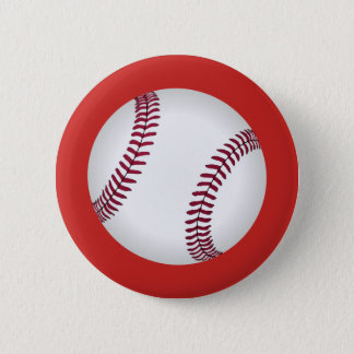 Baseball on red button customizable