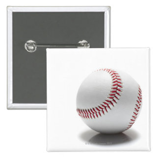 Baseball on white background 2 inch square button