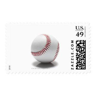 Baseball on white background postage