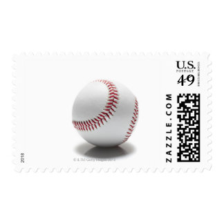 Baseball on white background postage stamps