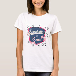 Baseball or bows Gender Reveal T-Shirt