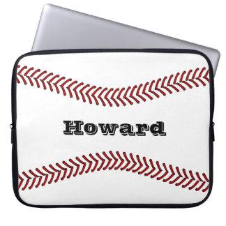 Baseball or Softball Design Laptop Sleeve 15 inch
