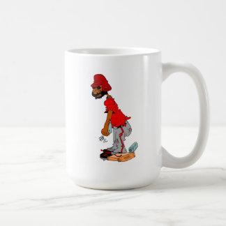 Baseball or Softball Player on base Coffee Mug