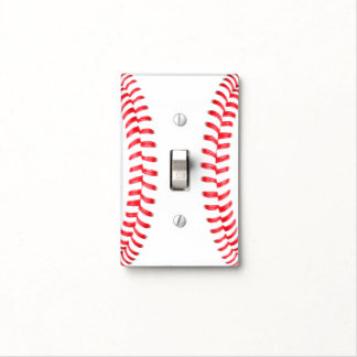 Baseball or Softball Red Laces Custom Switch Cover