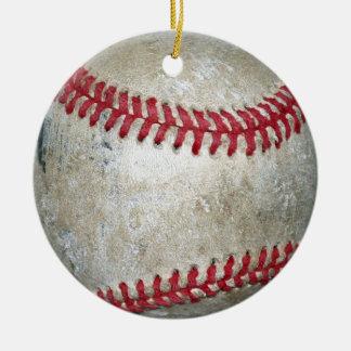 Baseball Ornament, Copyright Karen J Williams Ceramic Ornament