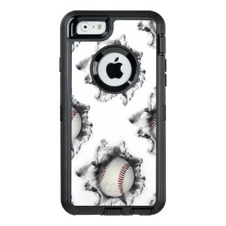Baseball OtterBox Defender iPhone Case