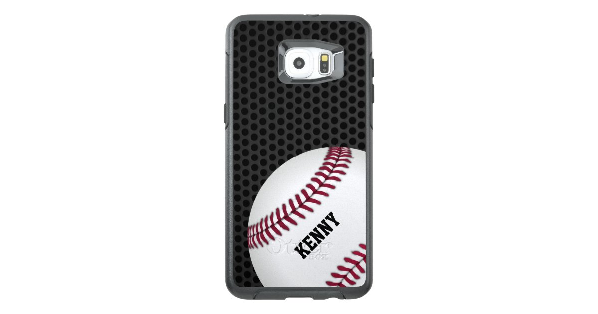 low priced 5d721 c1644 Baseball Otterbox Samsung S6 Edge Plus Case   Zazzle.com
