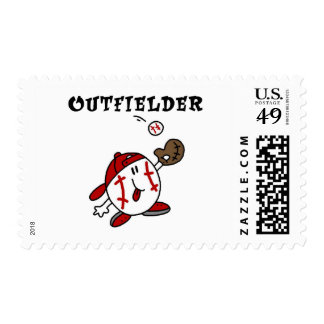 Baseball Outfielder Tshirts and Gifts Postage Stamp