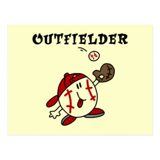 Baseball Outfielder Tshirts and Gifts Post Card