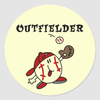 Baseball Outfielder Tshirts and Gifts Sticker