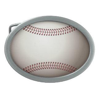 Baseball Oval Belt Buckle