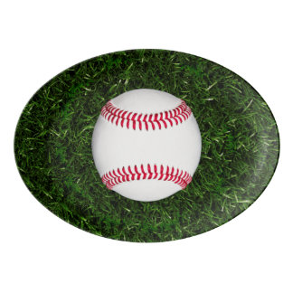 Baseball oval platter