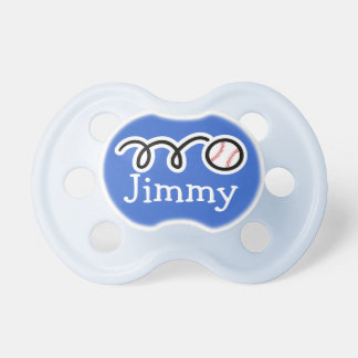 Baseball pacifer with name / Soother dummy binkie Pacifier