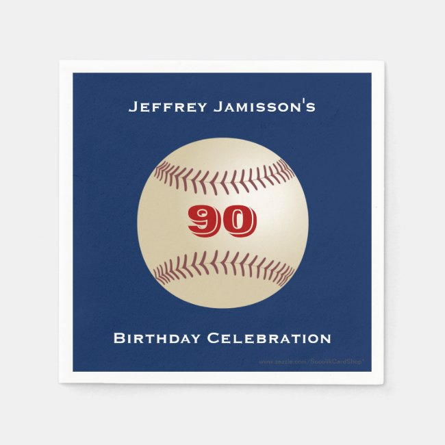 Baseball Paper Napkins, Birthday Party, Any Age