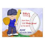 "Baseball Party 5"" X 7"" Invitation Card"
